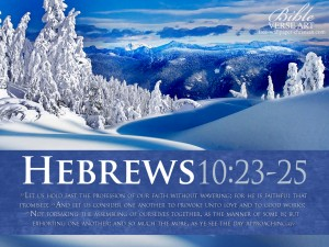 Hebrews 10:23-25 – Love and Good Deeds Papel de Parede Imagem