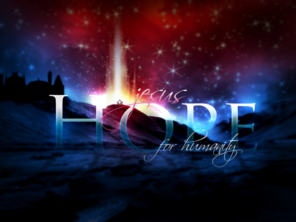 Christian Graphic: Hope Lights At Night christian wallpaper free download. Use on PC, Mac, Android, iPhone or any device you like.