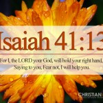 Isaiah 41:13 – Do Not Fear Wallpaper Christian Background