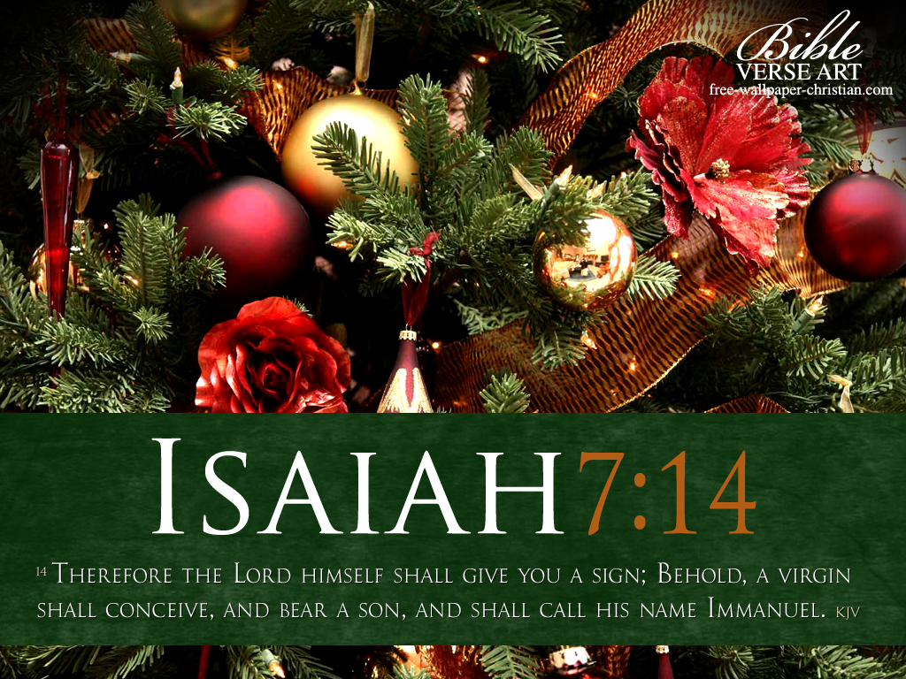 Isaiah 7:14 – Immanuel christian wallpaper free download. Use on PC, Mac, Android, iPhone or any device you like.