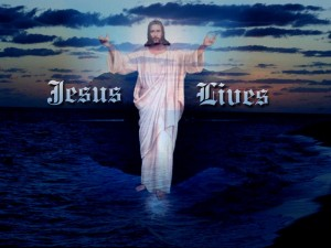 Christian Graphic: Jesus Lives Wallpaper