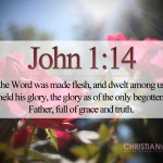 John 1:14 – The Glory of The One And Only Son Wallpaper Christian Background