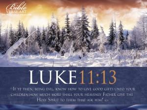 Luke 11:13 – Holy Spirit Wallpaper