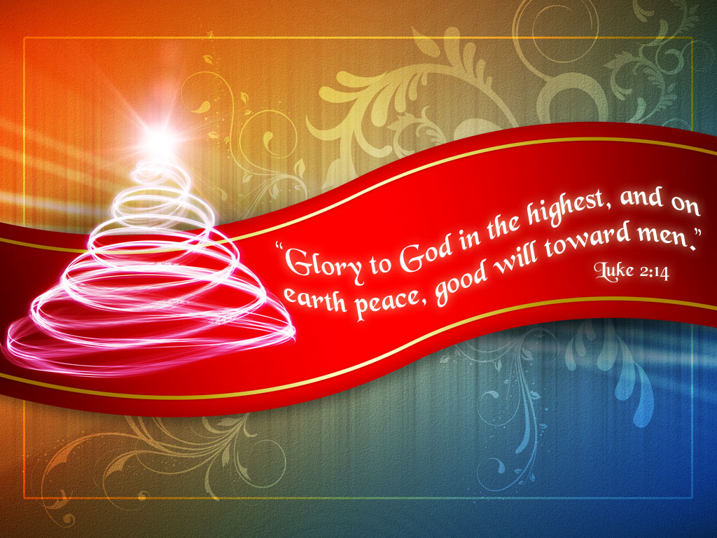 Luke 2:14 – Glory to God in the Highest Heaven christian wallpaper free download. Use on PC, Mac, Android, iPhone or any device you like.