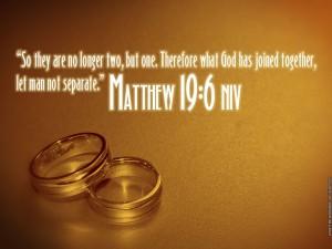 Matthew 19:6 – Let Man Not Separate. Wallpaper