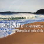 Philippians 1:29 – Suffer For Him Wallpaper Christian Background