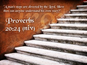 Proverbs 20:24 – Godly Directions Wallpaper