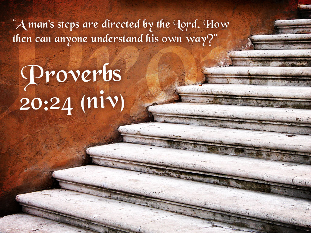Proverbs 20:24 – Godly Directions christian wallpaper free download. Use on PC, Mac, Android, iPhone or any device you like.