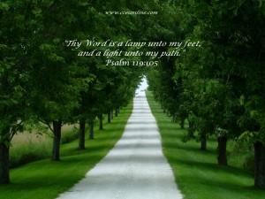 Psalm 119:105 – Thy Word Wallpaper