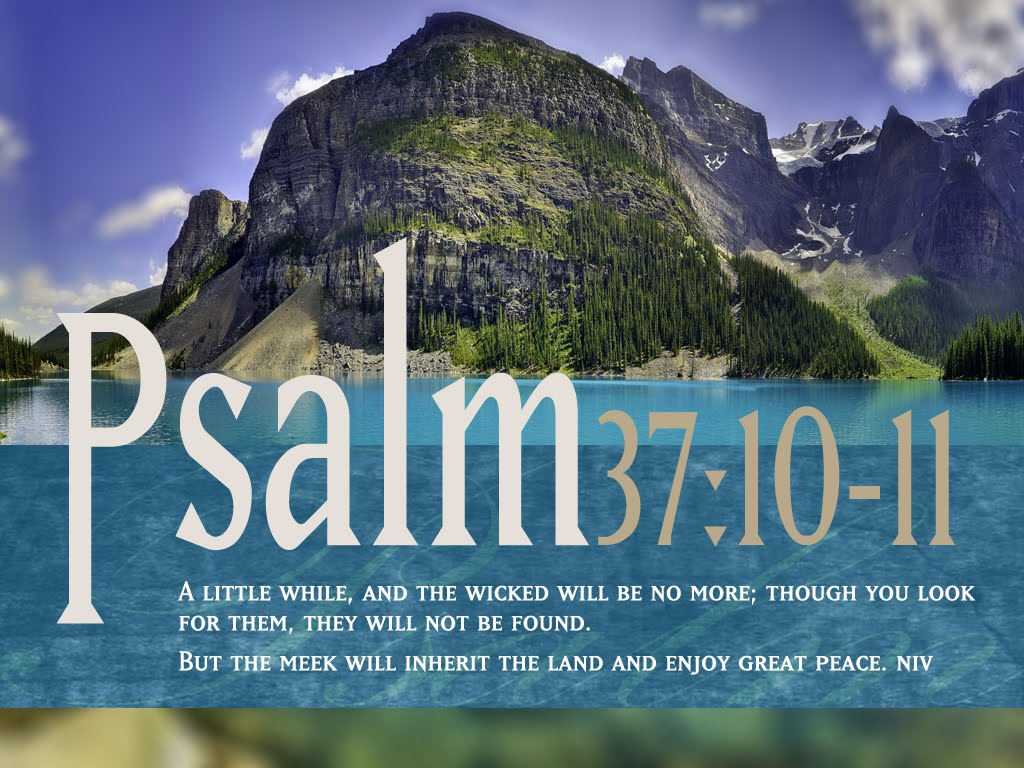 Psalm 37:10-11 – Peace And Prosperity christian wallpaper free download. Use on PC, Mac, Android, iPhone or any device you like.