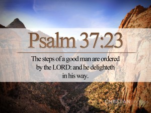 Psalm 37:23 – The Steps of a Good Man Wallpaper