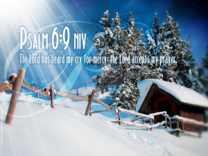 Psalm 6:9 – The lord Accepts Prayers Wallpaper