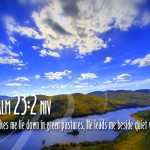 Psalm 23:2 – Green Pastures Wallpaper Christian Background