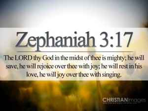 Zephaniah 3:17 – The LORD Our God is Mighty Wallpaper