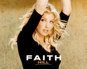 Christian Singer: Faith Hill Front Cover Wallpaper