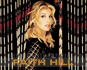 Christian Singer: Faith Hill on Curtains Wallpaper