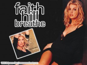 Christian Singer: Faith Hill's Breathe Album Wallpaper