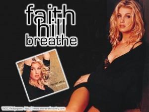 Christian Singer: Faith Hill's Breathe Album Wallpaper