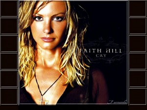 Christian Singer: Faith Hill Cry Album Cover Wallpaper