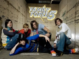 Christian Band: Family Force 5 Wacky Pose Wallpaper