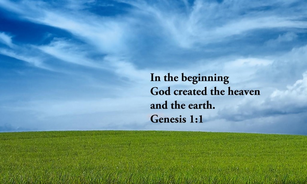 Genesis 1:1 – Creation christian wallpaper free download. Use on PC, Mac, Android, iPhone or any device you like.