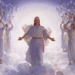 Christian Image: Jesus Christ on Heaven with Angels Wallpaper Christian Background