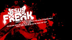 Christian Graphic: Jesus Freak Black And Red Wallpaper