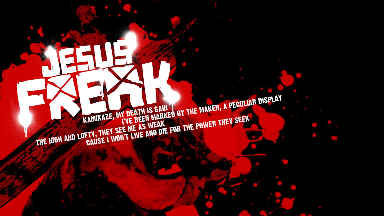 Christian Graphic Jesus Freak Black And Red Wallpaper Christian