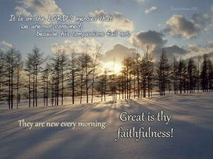 Christian Quotes: Great Is Thy Faithfulness Wallpaper