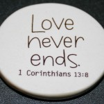 Christian Photography: Love Never Ends Badge Wallpaper Christian Background