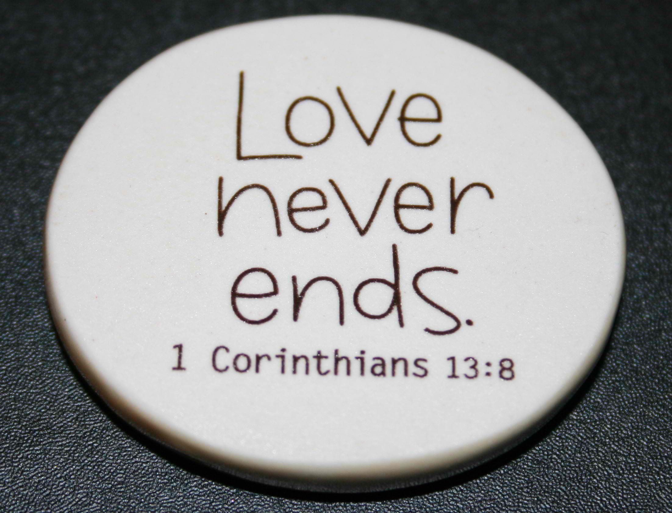 Christian Photography: Love Never Ends Badge Wallpaper ...