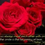Christian Quote: Smile And Love by Mother Teresa Wallpaper Christian Background