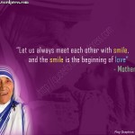 Christian Quote: Smile By Mother Teresa Wallpaper Christian Background