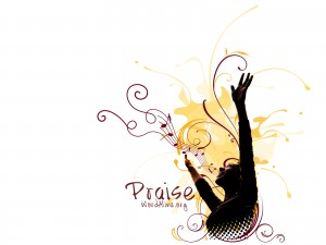 Christian Graphic: Praise Background Wallpaper