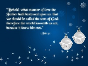 1 John 3:1 – Sons of God Wallpaper