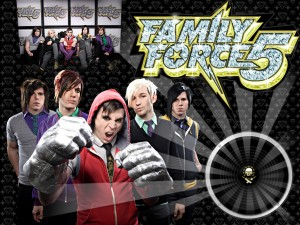 Christian Band: Family Force 5 Group Poster Wallpaper
