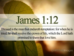 James 1:12 – Endure Temptation Wallpaper