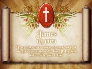 James 1:5 – Scroll Of Wisdom Wallpaper
