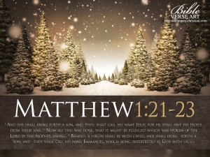 Matthew 1:21-23 – Birth of Jesus Our Savior Wallpaper