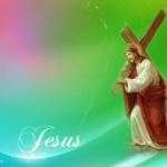 Jesus With Cross Wallpaper Christian Background