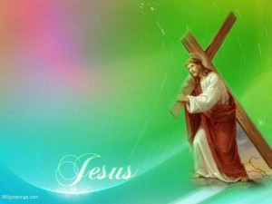 Jesus With Cross Wallpaper