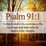 Psalm 91:1 – The Secret Place Wallpaper Christian Background