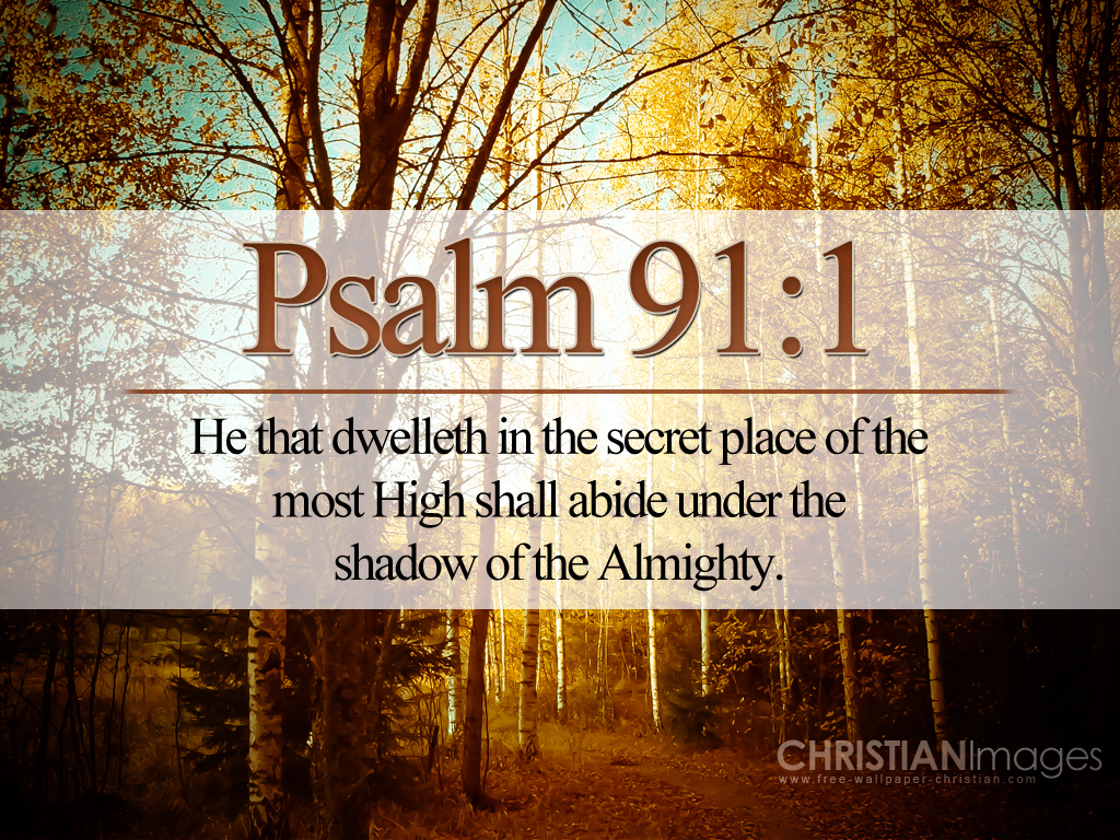 Psalm 91:1 – The Secret Place christian wallpaper free download. Use on PC, Mac, Android, iPhone or any device you like.
