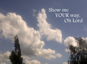 Christian Quote: Show Me Your Way Wallpaper