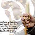 Ephesian 6:18 – Rosary Prayer Wallpaper Christian Background