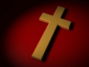 Colossians 2:15 – Golden Cross Wallpaper