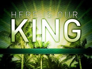 Christian Graphic: Here Is Our King Wallpaper