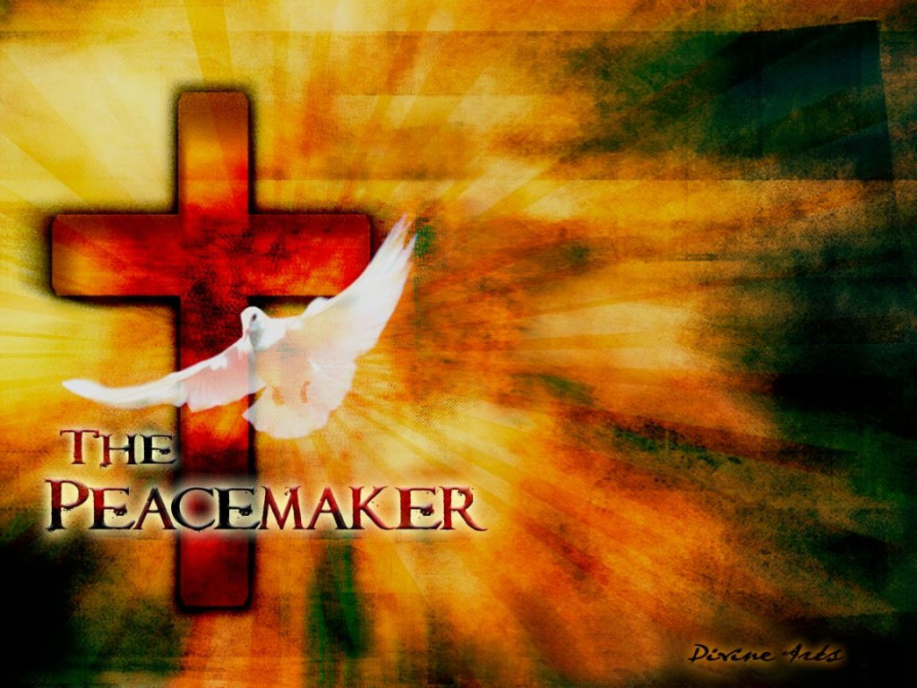 The Peacemaker christian wallpaper free download. Use on PC, Mac, Android, iPhone or any device you like.