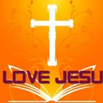 I Love Jesus – The Cross And Holy Bible Wallpaper Christian Background