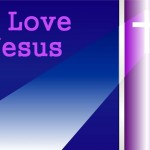 I Love Jesus – Lights Wallpaper Christian Background